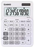 カシオ カラフル電卓 ミニジャストタイプ 10桁 MW-C11A-WE-N ホワイト