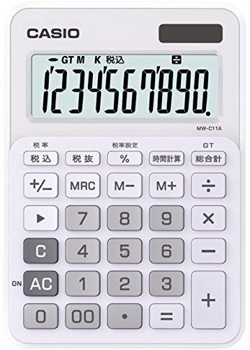 カシオ カラフル電卓 ミニジャストタイプ 10桁 MW-C11...