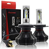 Autofeel【正規品】 ヘッドライト LED H4 6500K 8000LM DC9V-32V Lumileds社製LEDチップ搭載モデル 5年保証 車検対応