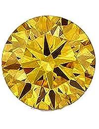 カラーダイヤモンド ブリリアントカット ルース 1.9mm 1個 ゴールドイエロー クラリティ:SI diac-gly-1.9mm