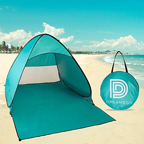 サンシェードテント Dreamegg ポップアップ サンシェードテント パット展開最速5秒収納 ワンタッチテント SPF+50日除け 2-3人用 海水浴・砂浜・運動会・公園・防災・コンサートに最適