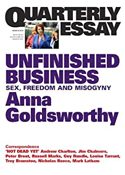 quarterly essay unfinished business sex dom and misogyny quarterly essay 50 unfinished business sex dom and misogyny by goldsworthy anna