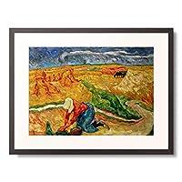 Nauen, Heinrich 「Harvest time. About 1909.」 額装アート作品