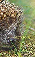 Notebook: Hedgehog western nose spikes forest rodent mammal porcupine quill honey badger