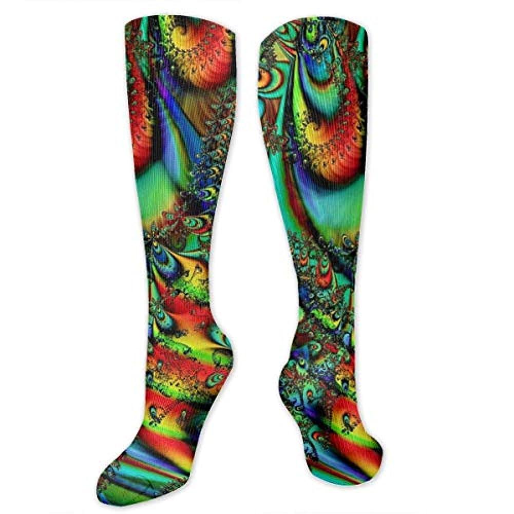 タオル臭い泣く靴下,ストッキング,野生のジョーカー,実際,秋の本質,冬必須,サマーウェア&RBXAA Green Psychedelic Trippy Art Pattern Socks Women's Winter Cotton Long...