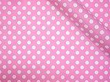 LECIEN (ルシアン) 生地 Color Basic 5mm ドット オックス 綿100% 約110cm幅×50cmカット col.NP ピンク 4600