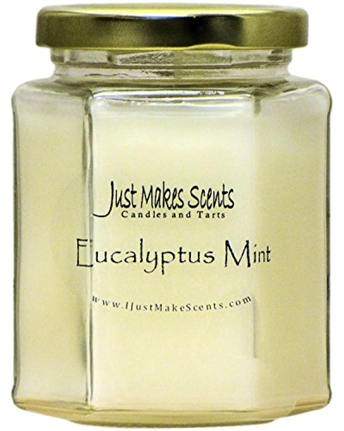 流行している単位三十ユーカリミント香りつきBlended Soy Candle | Aromatherapy Stress Relief |手Poured in the USA by Just Makes Scents ( 8オンス)