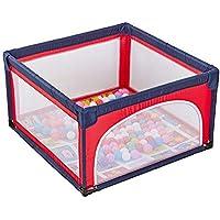 ボールマット付きの大型ポータブルベビープレイペン、子供の子供の遊びペンルームディバイダーオックスフォード布屋内屋外フェンス、赤 (色 : 4 Panel)