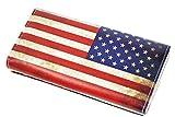 星条旗 長財布 アメリカン スタイル 使いやすい二つ折りタイプ (レトロアメリカ)