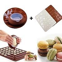 lilacorpシリコンポットシートマットノズルセットマカロンMacaroon Baking金型オーブンDIY装飾ケーキマフィンPastry Mould