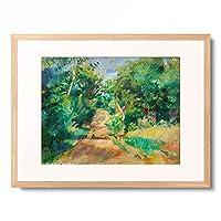 ピエール=オーギュスト・ルノワール Pierre-Auguste Renoir 「Les environs de Varengeville」 額装アート作品