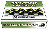 NCAA Michigan Wolverines Miniature Helmets Checker Set