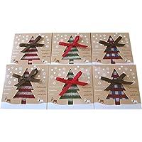 タオルの萩原 タオルハンカチ クリスマス ギフト BOX 6個セット 3色各2個 計6個 chrithmas-gift-6p