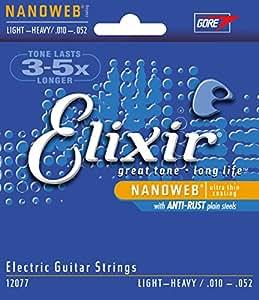 Elixir エリクサー エレキギター弦 NANOWEB Light Heavy .010-.052 #12077 【国内正規品】