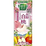 カゴメ 野菜生活100 長野白桃ミックス 195ml ×24本