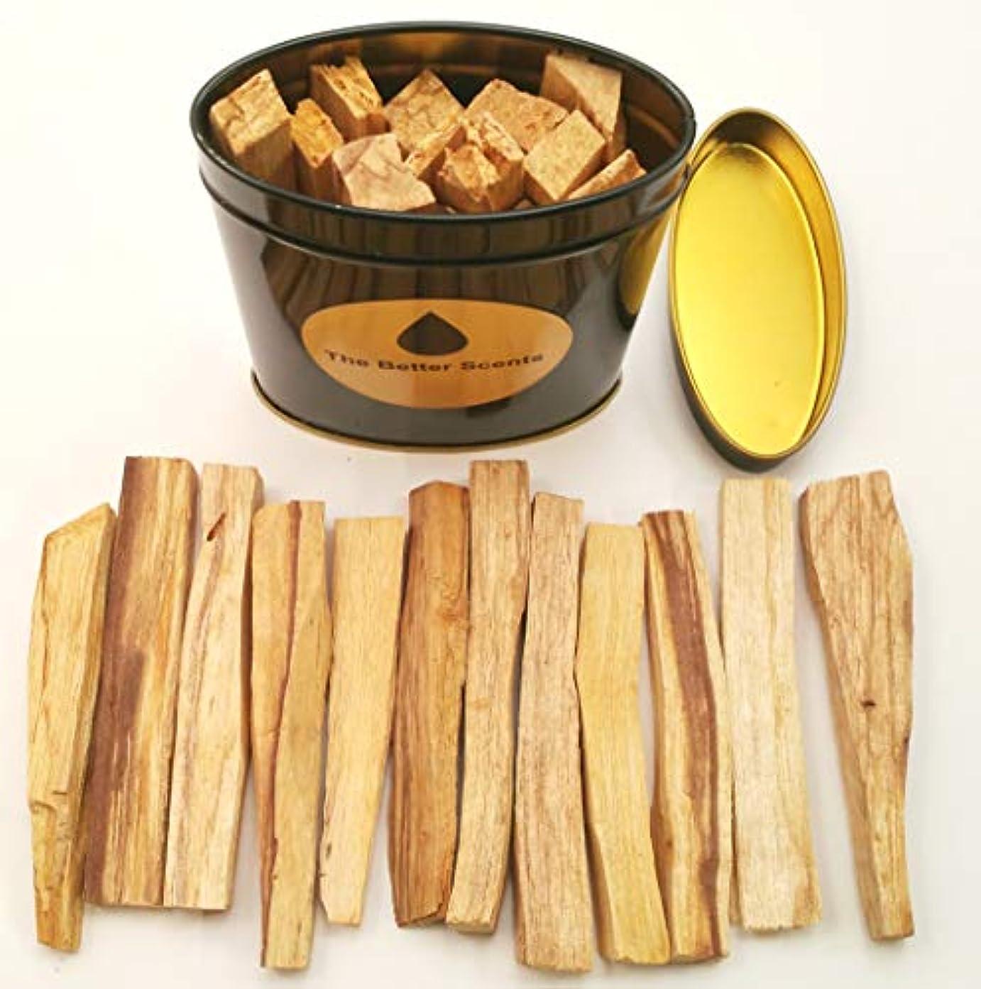苦難許容願望Palo Santo Sticks ギフトボックス - オーガニックな野生収穫 本物の100%天然無成型パロサント スマッジスティック