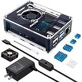 Miuzei 最新 Raspberry Pi 4 ケース ラスベリー パイ4 5.1V 3A USB-C 電源アダプター…