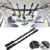 GOODTY Vehicle Fishing Rod Racks,Car Fishing Rod Holder Strap,Fishing Rod Storage Rack for SUVs Wagons and Vans