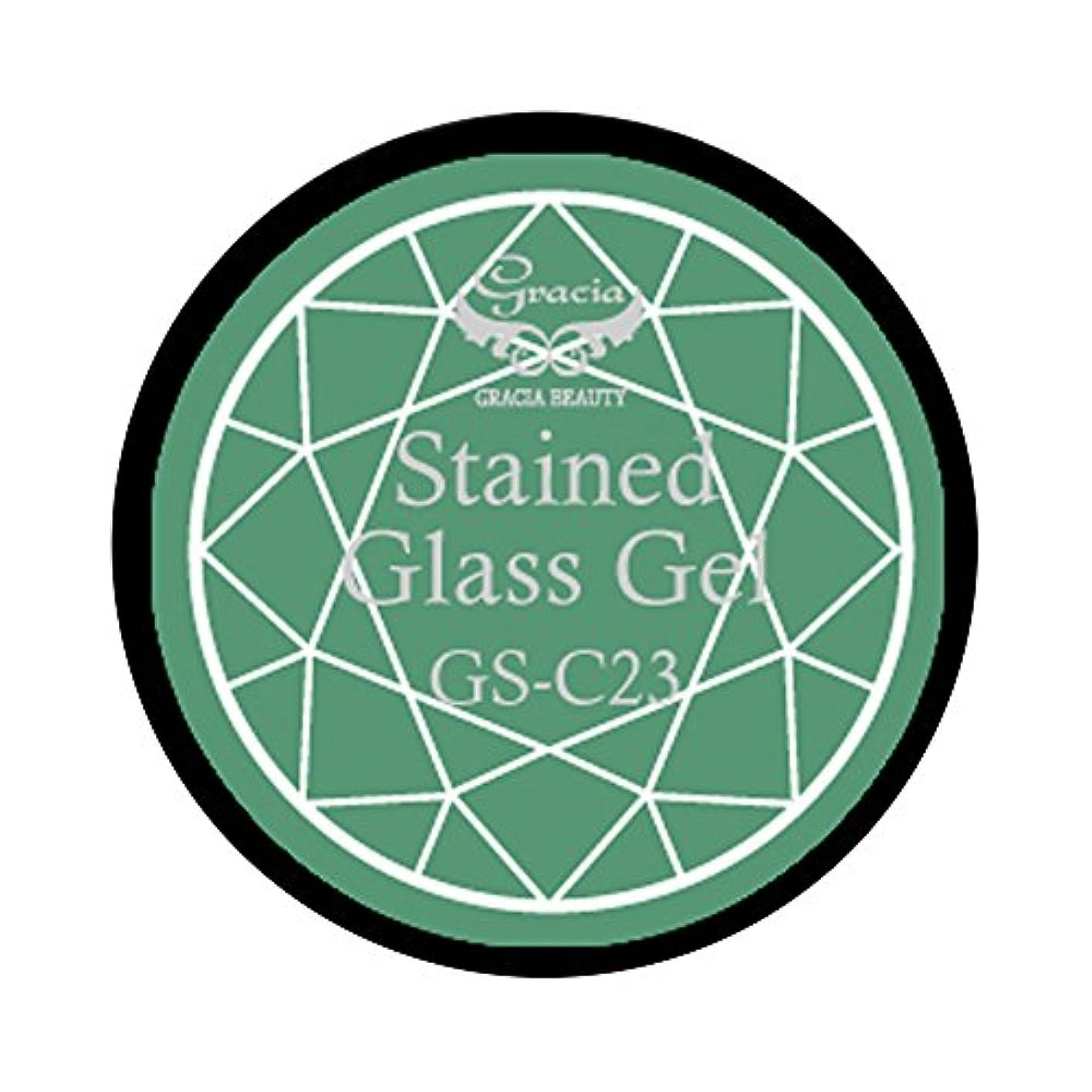 地中海棚拡張グラシア ジェルネイル ステンドグラスジェル GSM-C23 3g  クリア UV/LED対応 カラージェル ソークオフジェル ガラスのような透明感
