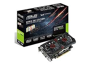 ASUSTek STRIXシリーズ NVIDIA GeForce GTX750Ti搭載ビデオカード セミファンレス STRIX-GTX750TI-OC-2GD5