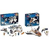 レゴ(LEGO) シティ 変形自在! 光る宇宙ステーション 60227 ブロック おもちゃ 男の子 &  シティ 人口衛星を追うジェット機 60224 ブロック おもちゃ 男の子【セット買い】