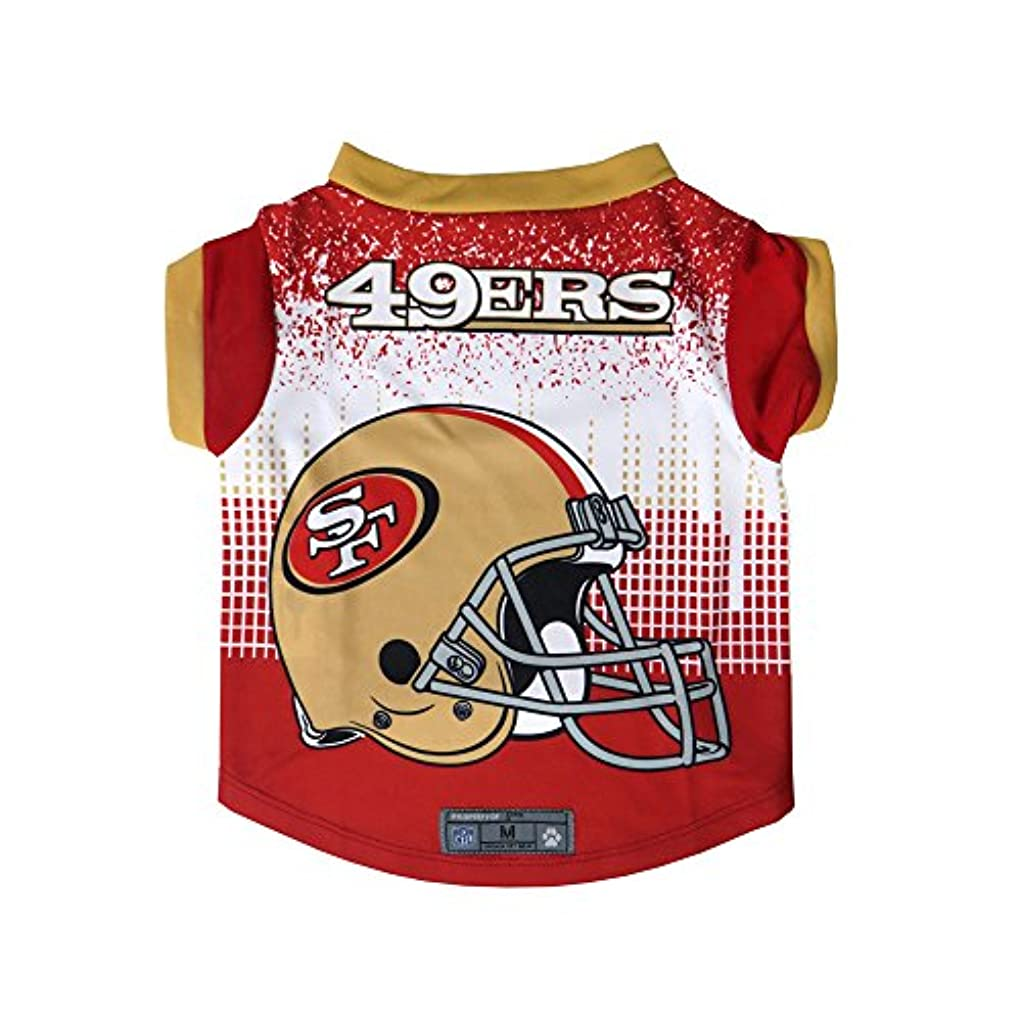 最大大胆不敵腐敗したNFL San Francisco 49ersペットパフォーマンスTシャツ、ダークレッド、L