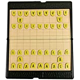 日本将棋 コンパクト ポータブル 将棋セット 折りたたみ式 収納便利 将棋盤 マグネット付き駒 旅行 こども 初心者 大人向け ボードゲーム