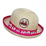 アンパンマン 麦わら帽子 水遊び 遠足 帽子 夏物 ペーパーハット ANPANMAN (ピンク48cm)