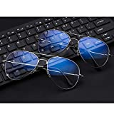 おしゃれ ブルーライト カット 軽量 メガネ 女性のためのMHKBD-JP超軽量メタルアンチブルーライトメガネ (色 : ゴールド) 画像