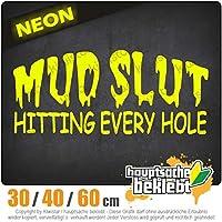 MUD SLUT - 3つのサイズで利用できます 15色 - ネオン+クロム! ステッカービニールオートバイ
