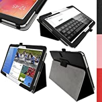 """iGadgitz Premium Black PU Leather Folio Case Cover for Samsung Galaxy TabPRO 10.1"""" SM-T520 T525 with Multi-Angle Viewing Stand + Auto Sleep/Wake + Stylus Pen Holder + Screen Protector [並行輸入品]"""