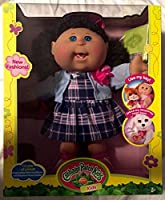 "Cabbage Patch Kidsガールズ14 "" Girl Blue Eyes Caucasian Dark Brunette Hair格子柄スカート"