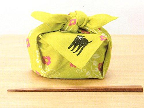 チーフ夢二(約48cm巾) (8、ネコ黄色)