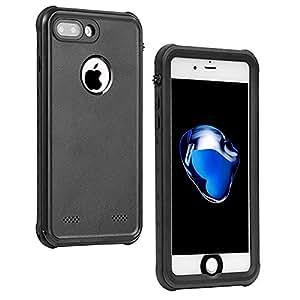 NexGadget for iphone 7 防水 ケース iphone 7 保護カバー PRO 系 米軍MIL規格取得 防水規格 IP68取得 防雪 防塵 防埃 耐衝撃 (ブラック)