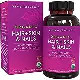 Organic Hair Skin and Nails Vitamins for Women with Biotin, Hair Vitamins and Skin Vitamins That Promotes Healthy Hair and Na
