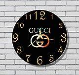 グッチ GUCCI GUCCI 11'' 壁時計 GUCCI あなたの友人のための最高の贈り物。逆にしているメカニズム。あなたの家のためのオリジナルデザイン。