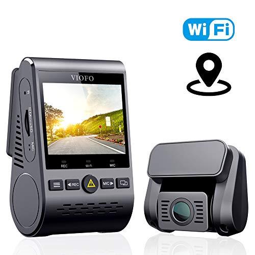 VIOFO ドライブレコーダー ドラレコ 前後カメラ デュアルレンズ GPS機能搭載 WIFI搭載 1080P Full HD SONY製センサー 2インチLCD画面 140度広角 常時/衝撃/ループ録画 駐車監視 動体検知 超強夜視機能/コンデンサ G-センサー WDR 最大256GBカード 1年保証