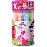 10ピースThe Piggy Story Washable Mega Dry EraseクレヨンSet for Kids ピンク 5629