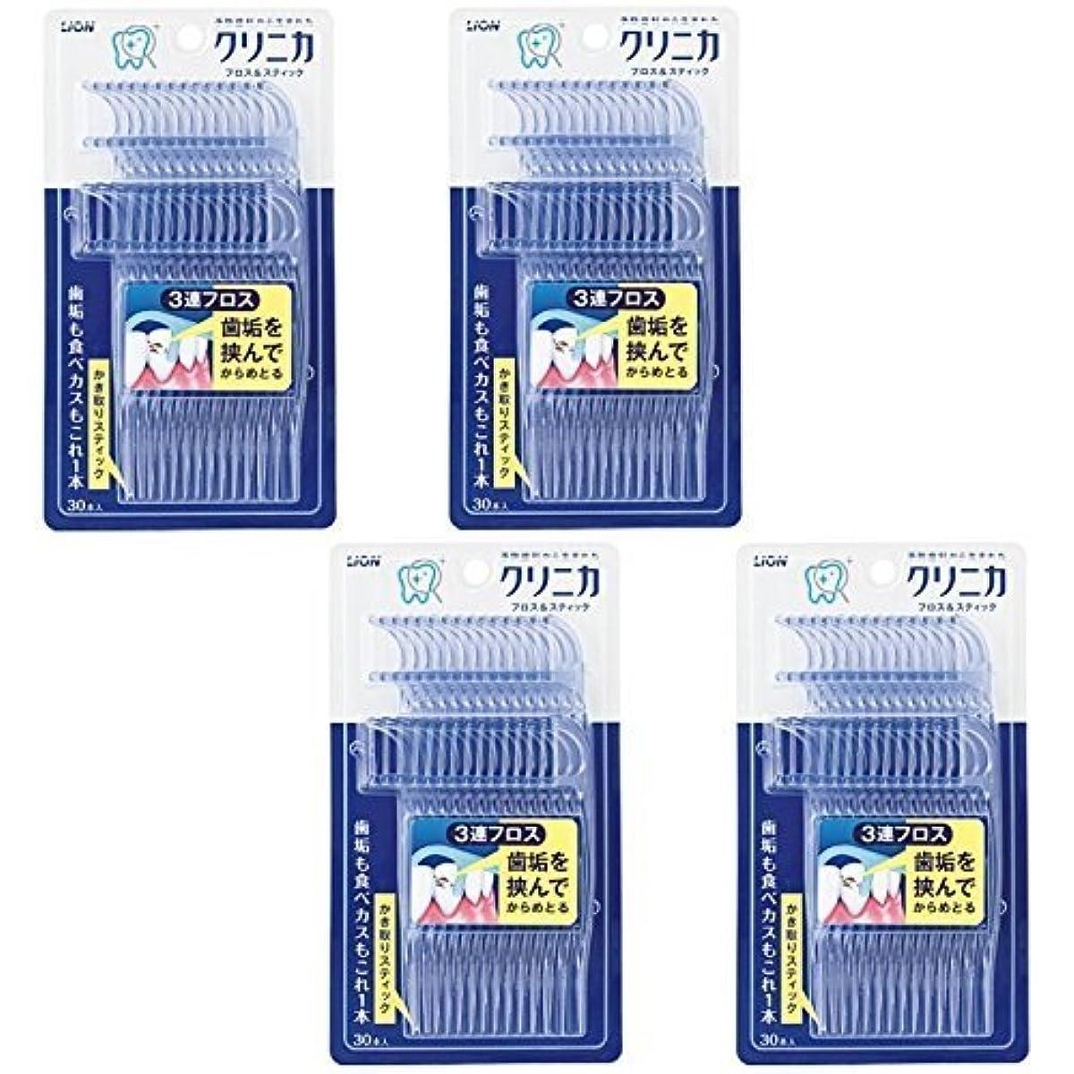 疫病ポスター虎【まとめ買い】クリニカ フロス&スティック 30本【×4個】