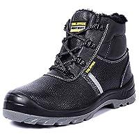 [CHNHIRA] 安全/作業靴 男女兼用 アウトドア(24cm ブラック)