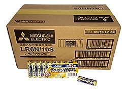 【ケース販売】三菱電機 アルカリ乾電池(シュリンクパック) 単3形 10本パック LR6N 10S×40個入り