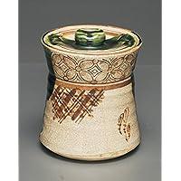 茶道具商 左座園 織部 大 水指 oribe mizusashi/fresh-water container