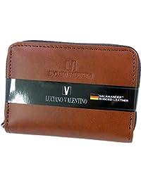 [LUCIANO VALENTINO(L-バレンチノ)] コンパクト財布&定期入れ 紳士用 luv7008-br 茶(ブラウン) 【箱無し】