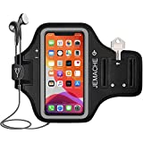 """iPhone 11 Pro, X, XS Armband, JEMACHE Water Resistant Gym Sport Running Workout Exercise Arm Band Case for iPhone 11Pro, X, XS (5.8"""") with Key Holder (Black)"""