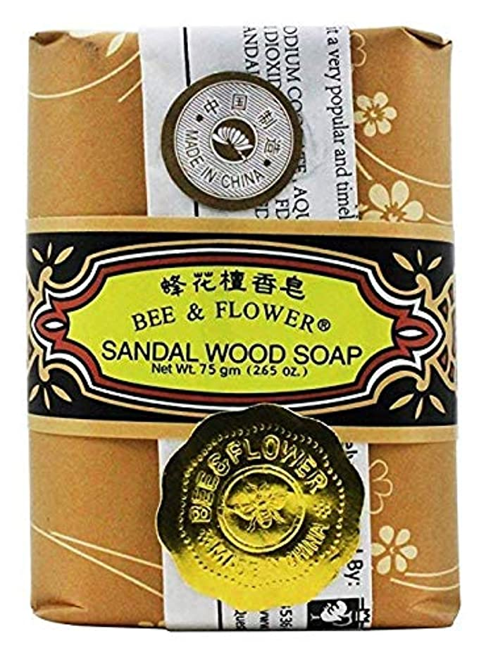 遊び場繰り返しセッティング海外直送品 BEE & FLOWER SOAP Bar Soap Sandalwood, 2.65 Oz