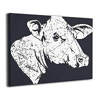 Shamp 牛 絵 壁掛け 絵画 インテリア ポスター アートポスター フレームレス装飾画 アートフレーム・ポスター 額縁なし 横
