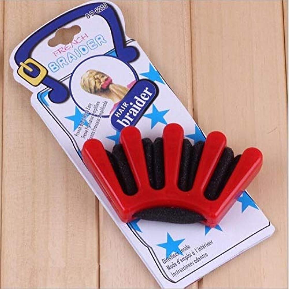 WTYD 美容ヘアツール 24ピースヘアブレイドスタイルスポンジ編みヘアツイストスタイリング編組ツールホルダークリップ(ブルー) (色 : Red)