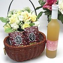 贈り物 桃果汁はとっても贅沢桃好きな方へ♪味醂仕込み 信州長野産桃果汁80% 白い桃のしずく酒 500ml +オススメ珈琲豆200g×2