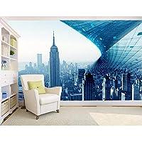 Mingld 寝室用カスタムボール3D写真の壁紙3Dヨーロッパ抽象ビルE絵画-350X250Cm