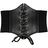 GRACE KARIN Elastic Faux Leather Wide Corset Cinch Belt For Women